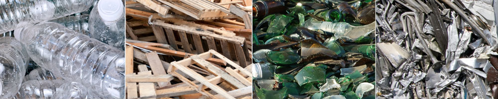 Recyclable materials processing - plastic bottles, wood pallets, commingled glass, scrap metals and more